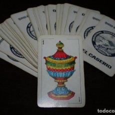Barajas de cartas: ANTIGUA BARAJA ESPAÑOLA CON PUBLICIDAD DE QUESO EN PORCIONES EL CASERIO - COMPLETA. Lote 107176243