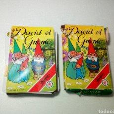 Barajas de cartas: ANTIGUA BARAJA DE CARTAS, DAVID EL GNOMO. FOURNIER. COMPLETA CON INSTRUCCIONES. Lote 107366438