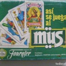 Barajas de cartas: JUEGO DE CARTAS ASI SE JUEGA AL MUS . DE FOURNIER , VITORIA. Lote 107740347