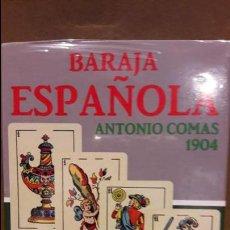 Barajas de cartas: BARAJA ESPAÑOLA / ANTONIO COMAS / REPRODUCCIÓN BARAJA 1904 / 210 ANIVERSARIO / PRECINTADA.. Lote 122062995