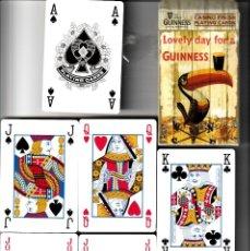 Barajas de cartas: BARAJA DE POKER OFICIAL DE GUINNESS. Lote 107745451