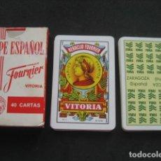 Barajas de cartas: BARAJA ESPAÑOLA FOURNIER. PUBLICIDAD FIMA ZARAGOZA (FERIA INTERNACIONAL MAQUINARIA AGRICOLA). Lote 107822671