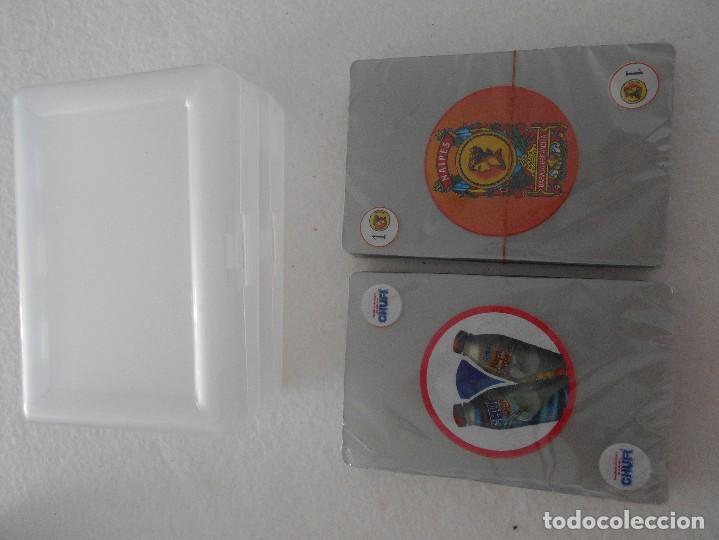 Barajas de cartas: CHUFÍ. HORCHATA DE CHUFA DE VALENCIA. LOTE DE 2 BARAJAS DE CARTAS PLASTIFICADAS NUEVAS A ESTRENAR. B - Foto 2 - 107824899
