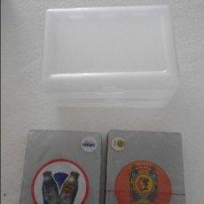 Barajas de cartas: CHUFÍ. HORCHATA DE CHUFA DE VALENCIA. LOTE DE 2 BARAJAS DE CARTAS PLASTIFICADAS NUEVAS A ESTRENAR. B. Lote 107825011