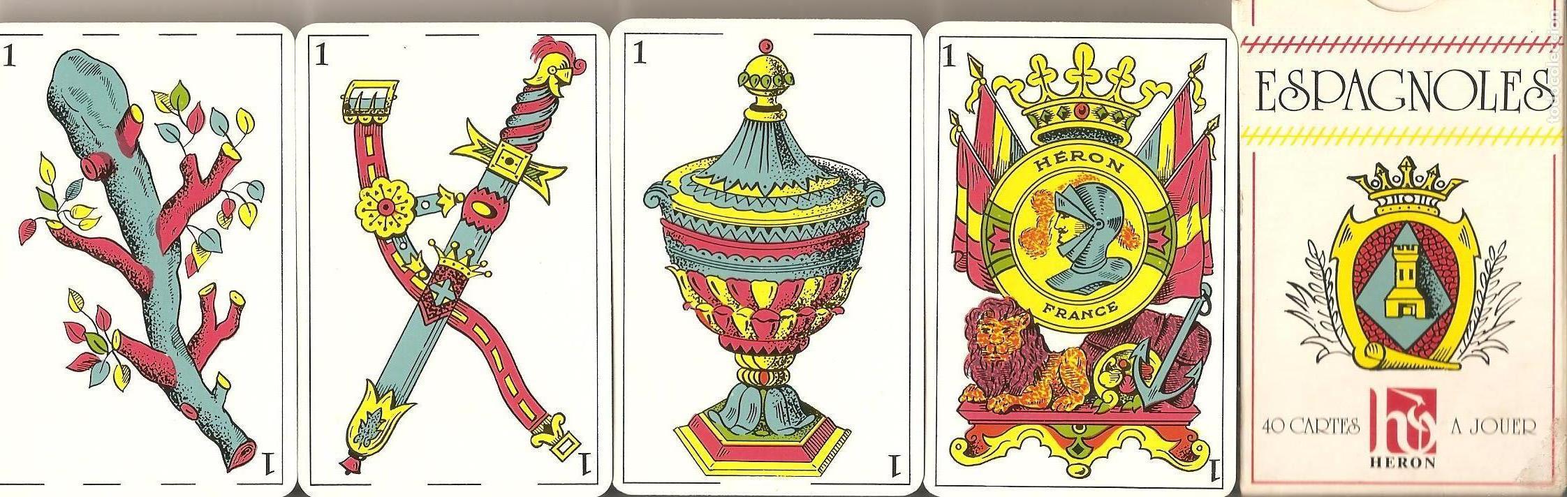 BARAJA, NAIPE ESPAÑOL, 40 NAIPES, HERON-FRANCE (Juguetes y Juegos - Cartas y Naipes - Baraja Española)