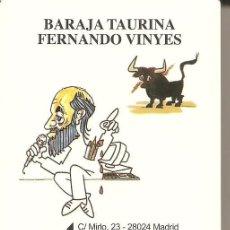 Barajas de cartas: BARAJA, BARAJA TAURINA FERNANDO VINYES, NUEVA, PRECINTADA. Lote 108020263