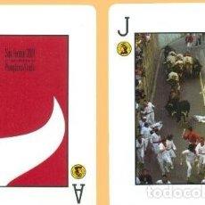 Barajas de cartas: BARAJA, SAN FERMÍN 2001, TOROS-ENCIERROS, FOURNIER, POKER ESPAÑOL , NUEVA, PRECINTADA. Lote 108262447
