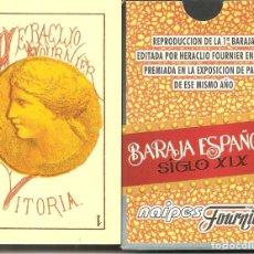 Barajas de cartas: BARAJA, BARAJA ESPAÑOLA SIGLO XIX-REPRODUCCIÓN, FOURNIER , NUEVA, SIN PRECINTAR. Lote 178607187