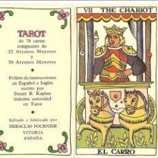 Barajas de cartas: BARAJA, TAROT ESPAÑOL, BILINGUE, FOURNIER, 78 NAIPES, NUEVO, SIN PRECINTAR. Lote 108270119