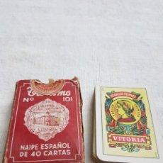 Barajas de cartas: ANTIGUA BARAJA CARTAS HERACLIO FOURNIER 40 CARTAS. Lote 108298387