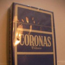 Barajas de cartas: PAQUETE DE CARTAS PUBLICIDAD CORONAS CAJA PRECINTADA. Lote 108312791