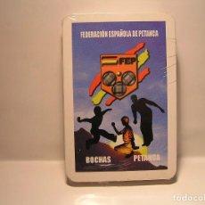 Barajas de cartas: BARAJA DE CARTAS: FEDERACION ESPAÑOLA DE PETANCA (BOCHAS) : NUEVAS - PRECINTADAS. Lote 108363455