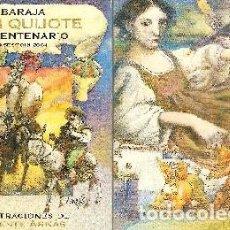 Baralhos de cartas: BARAJA, EL QUIJOTE, IV CENTENARIO, DISEÑO DE V. ARNÁS, ASESCOIN-MAESTROS NAIPEROS, NUEVA, PRECINTADA. Lote 108883471