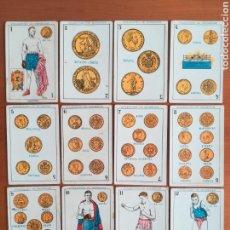 Barajas de cartas: BARAJA ESPAÑOLA CHOCOLATES AMATLLER COLECCIÓN DE MONEDAS BOXEO - PALO DE OROS. Lote 109476699