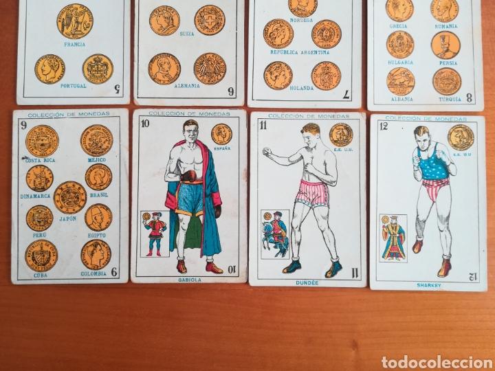 Barajas de cartas: Baraja española Chocolates Amatller Colección de monedas boxeo - palo de oros - Foto 3 - 109476699