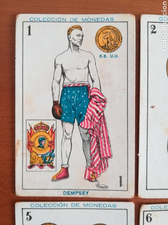 Barajas de cartas: Baraja española Chocolates Amatller Colección de monedas boxeo - palo de oros - Foto 4 - 109476699