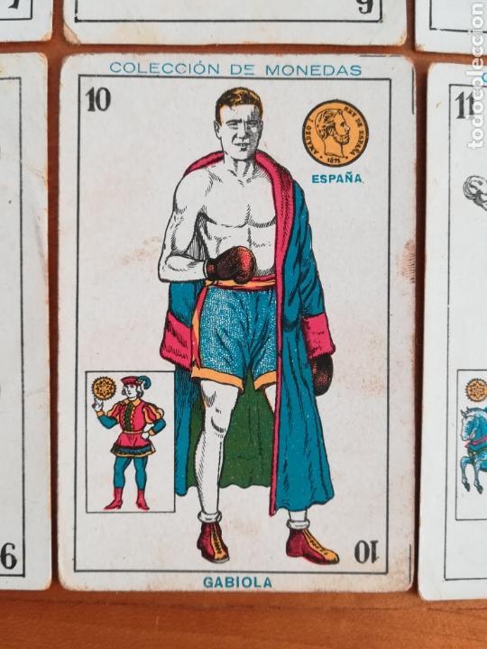 Barajas de cartas: Baraja española Chocolates Amatller Colección de monedas boxeo - palo de oros - Foto 6 - 109476699