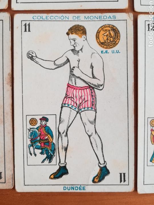 Barajas de cartas: Baraja española Chocolates Amatller Colección de monedas boxeo - palo de oros - Foto 7 - 109476699