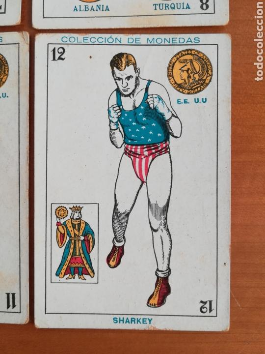 Barajas de cartas: Baraja española Chocolates Amatller Colección de monedas boxeo - palo de oros - Foto 8 - 109476699