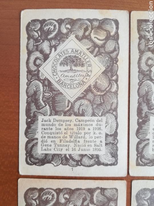 Barajas de cartas: Baraja española Chocolates Amatller Colección de monedas boxeo - palo de oros - Foto 12 - 109476699