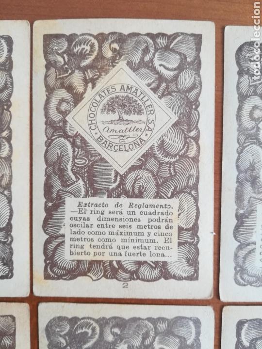 Barajas de cartas: Baraja española Chocolates Amatller Colección de monedas boxeo - palo de oros - Foto 13 - 109476699