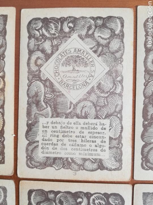 Barajas de cartas: Baraja española Chocolates Amatller Colección de monedas boxeo - palo de oros - Foto 14 - 109476699