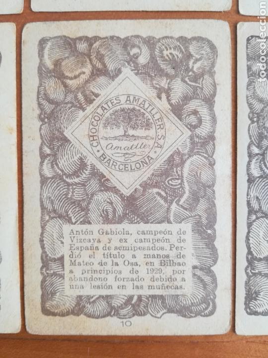Barajas de cartas: Baraja española Chocolates Amatller Colección de monedas boxeo - palo de oros - Foto 17 - 109476699