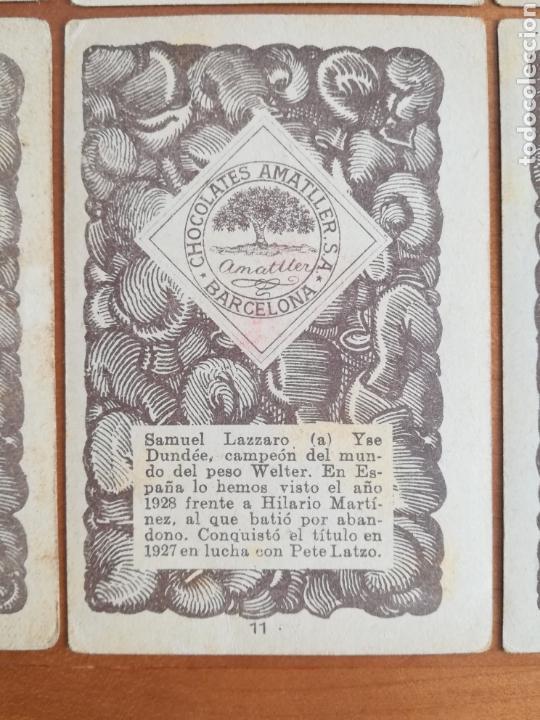 Barajas de cartas: Baraja española Chocolates Amatller Colección de monedas boxeo - palo de oros - Foto 18 - 109476699