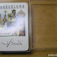 Barajas de cartas: BARAJA DE CARTAS (NAIPES COMAS ) BARCELONA - GAUDÍ. DE POCKER (MADE IN SPAIN) : NUEVAS EN ESTUCHE. Lote 109530995