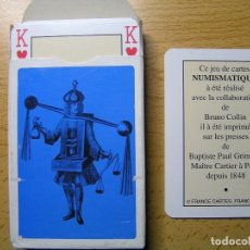 Barajas de cartas: BARAJA DE CARTAS (NAIPES) NUMISMATIQUE GRIMAUD (NUMISMATICA) FRANCE - DIBUJOS DE MONEDAS- NUEVAS -. Lote 109532019