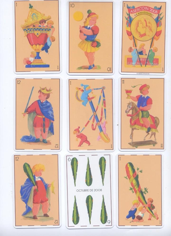 Barajas de cartas: CONJUNTO DE BARAJAS ESPAÑOLAS MODERNISTA E INFANTIL - Foto 2 - 94169030