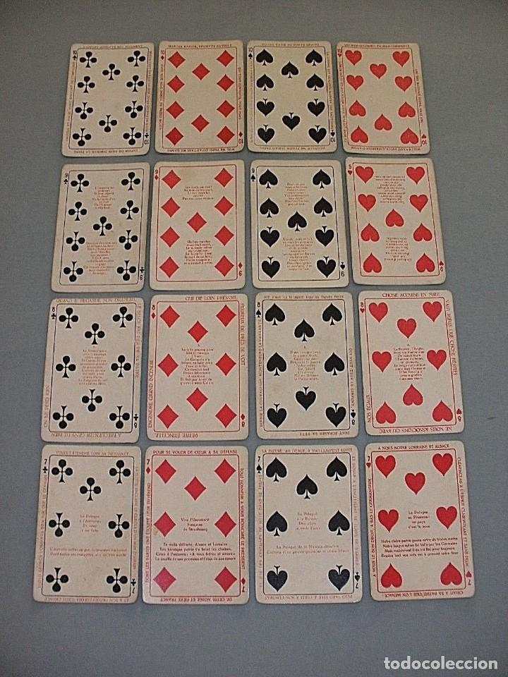 Barajas de cartas: RARISIMA BARAJA JEU DES ALLIES PROVERBES I GUERRA MUNDIAL BIERMANS CARDS BELGICA 1919 - Foto 3 - 110195655