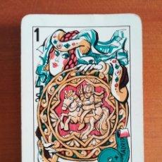 Barajas de cartas: BARAJA ESPAÑOLA FOURNIER MINGOTE PUBLICIDAD SIKA - TIMBRE VERDE MYR EDICIONES. Lote 110242576
