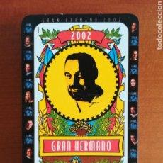 Barajas de cartas: BARAJA ESPAÑOLA GRAN HERMANO 2002 - ORIGINAL COMPLETA. Lote 110243676