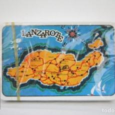 Barajas de cartas: BARAJA DE CARTAS - LANZAROTE / PÓKER - EDITOR, COMAS - PRECINTADA. Lote 110340903