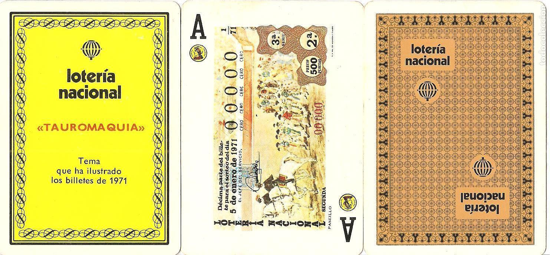 BARAJA, TEMA LA TAUROMAQUIA, 1971, LOTERIA NACIONAL-FOURNIER, SIN PRECINTAR, VER DESCRIPCIÓN (Juguetes y Juegos - Cartas y Naipes - Barajas de Póker)