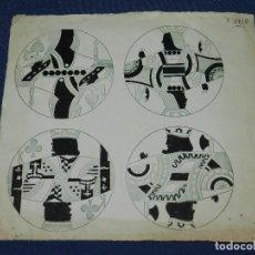 Barajas de cartas: (M) DIBUJO ORIGINAL DISEÑO DE CARTAS DE POKER , 27'5 X 25 CM, SEÑALES DE USO. Lote 111091711