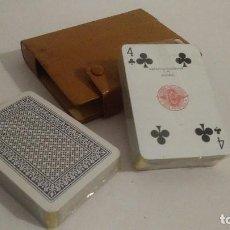 Barajas de cartas: DOS BARAJAS DE POKER FOURNIER CON SELLO DEL TIMBRE DE LA MONEDA 2 PESETAS. Lote 111346763