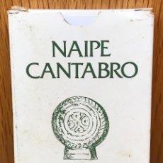 Barajas de cartas: NAIPE CÁNTABRO - 40 CARTAS MÁS INSTRUCCIONES CON HISTORIA Y ETNOGRAFÍA DE CANTABRIA -CAJA DE AHORROS. Lote 111433095