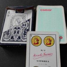Barajas de cartas: BARAJA ESPAÑOLA NÚMERO 1 HERACLIO FOURNIER 1962 COMAR. Lote 111762679