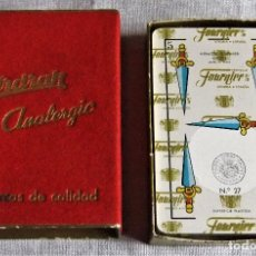 Barajas de cartas: CAJA CON BARAJA ESPAÑOLA DE HERACLIO FOURNIER PUBLICIDAD DESODORANTE FIRDRAK. Lote 111850131