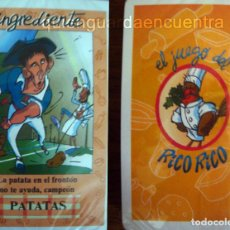 Barajas de cartas: EL JUEGO DE CARTAS DE KARLOS ARGUIÑANO RICO-RICO BARAJA PRECINTADA. Lote 111920263