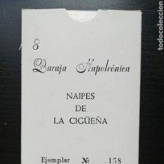 Barajas de cartas: BARAJA NAPOLEÓNICA NAIPES DE LA CIGÜEÑA VILLAVICIOSA DE ODÓN - LIMITADA Y NUMERADA AÑO 1991. Lote 112001318