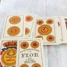 Barajas de cartas: ANTIGUA BARAJA DE CARTAS LA FLOR DE CADIZ COMPLETA. Lote 112218855
