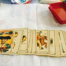Barajas de cartas: ANTIGUA BARAJA TAURINA CHOCOLATES ANGELICAL 1916 COMPLETA. Lote 112219048