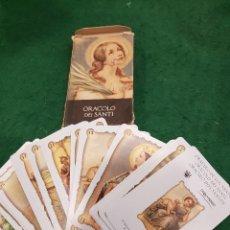 Barajas de cartas: BARAJA TAROT ORACOLO DEI SANTI. Lote 112259855