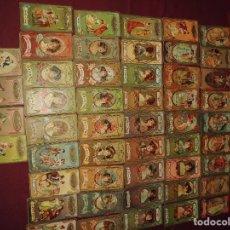 Barajas de cartas: MAGNIFICO ANTIGUO JUEGO DE LA BARAJA DEL AMOR, CHOCOLATE PI PRINCIPIO DE SIGLO XX,SALIDA 1 EURO. Lote 112334639