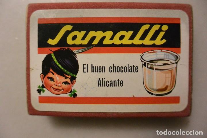 BARAJA DE CARTAS PUBLICIDAD CHOCOLATES SAMALLI (Juguetes y Juegos - Cartas y Naipes - Baraja Española)
