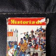 Barajas de cartas: HISTORIA DE ESPAÑA COLECCION COMPLETA DE 48 CARTAS EN SU ESTUCHE ORIGINAL. Lote 112518903