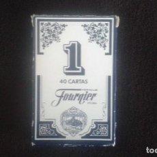 Barajas de cartas: BARAJA ESPAÑOLA. FOURNIER. NUMERO 1. 40 CARTAS. BARAJA PRECINTADA.. Lote 112532259